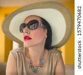 A Glamorous Socialite Wearing A ...