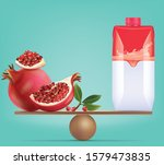 compare pomegranate and balance ... | Shutterstock .eps vector #1579473835