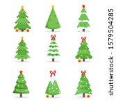 set of various christmas pine... | Shutterstock .eps vector #1579504285