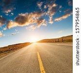 road in the wild xinjiang china | Shutterstock . vector #157954865