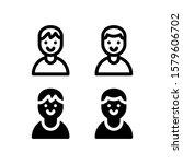 man avatar icon. people icon...