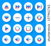 16 media icon set 06  gradient... | Shutterstock .eps vector #157961762