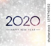 grey shiny happy new year 2020... | Shutterstock .eps vector #1579740352