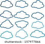 clouds | Shutterstock .eps vector #157977866
