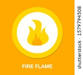 Fire Flame Icon  Campfire Sign...
