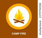 Mountain Camp   Fire Flame Ico...