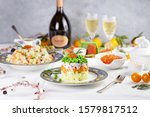 Festive New Year\'s Table In Th...