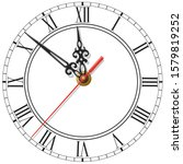 Elegant Vector Clock Face With...