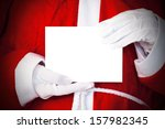 santa claus with empty card | Shutterstock . vector #157982345