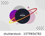 modern abstract circle and...   Shutterstock .eps vector #1579856782