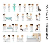medical staff   isolated on... | Shutterstock .eps vector #157986722