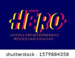 comics style font  super hero... | Shutterstock .eps vector #1579884358