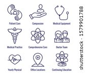 physician care icon set with... | Shutterstock .eps vector #1579901788