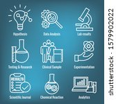 scientific process icon set and ... | Shutterstock .eps vector #1579902022