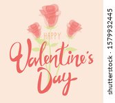 valentine's day text with...   Shutterstock .eps vector #1579932445