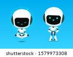 set of cute robot ai character  ... | Shutterstock .eps vector #1579973308