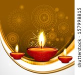 abstract beautiful style diwali ... | Shutterstock .eps vector #157998815