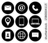 contact as flat icon solid... | Shutterstock .eps vector #1580004115