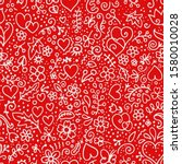 Seamless Red Vector Pattern...