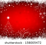 red christmas  background | Shutterstock .eps vector #158005472