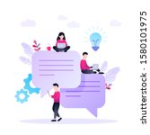 speech bubbles for comment and...   Shutterstock .eps vector #1580101975