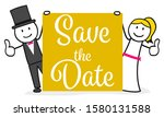bridal couple man and woman | Shutterstock .eps vector #1580131588