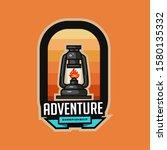set of vintage outdoor camp... | Shutterstock .eps vector #1580135332