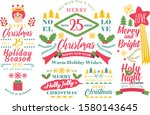 merry christmas and happy new... | Shutterstock .eps vector #1580143645