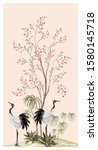beautiful exotic chinoiserie...   Shutterstock .eps vector #1580145718