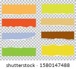 pieces of torn colorful blank...   Shutterstock .eps vector #1580147488