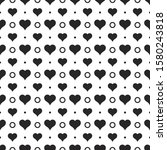 black hearts vector shapes on a ...   Shutterstock .eps vector #1580243818