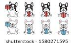 dog vector french bulldog... | Shutterstock .eps vector #1580271595