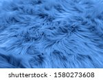 Fur Background Toned Blue Colo...