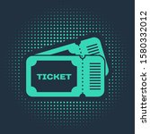 green ticket icon isolated on... | Shutterstock .eps vector #1580332012