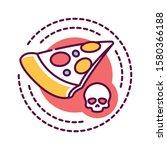 junk food addiction color line...