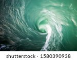 Small photo of Whater whirl, contrasted and saturated natural colours.