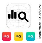 search chart icon. vector...