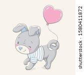 vector hand drawn illustration... | Shutterstock .eps vector #1580411872