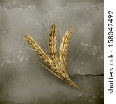 3d,abundance,aged,agriculture,autumn,background,barley,bran,bread,brown,bunch,cereal plant,concept,crop,crop plants