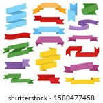 Ribbons Isolated Icons  Blank...