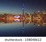Toronto Skyline At Night With ...