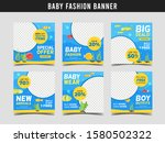 baby fashion sale square banner ... | Shutterstock .eps vector #1580502322