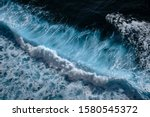 Aerial View To Waves In Ocean...