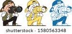 vector illustration of a men... | Shutterstock .eps vector #1580563348