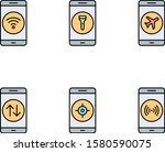 6 set of mobile apps icons...