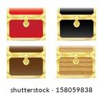 vintage wooden chest | Shutterstock .eps vector #158059838