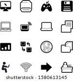 computer vector icon set such...