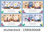 modern student dormitory life... | Shutterstock .eps vector #1580630668