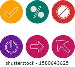 set of 6 basic elements icons...