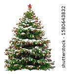 beautiful christmas tree... | Shutterstock . vector #1580643832